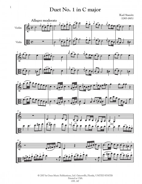 """6 Duets \""""Le Jeune\"""" for Violin and Viola"""