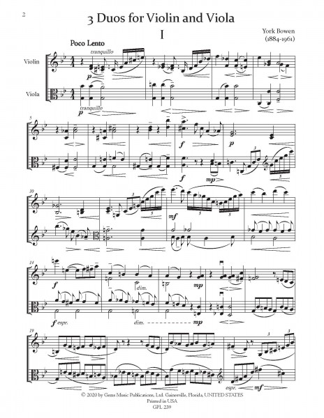 3 Duos for Violin and Viola