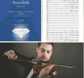 Marco plays Marco!  Anzoletti Viola Concerto No. 1 (orchestrated) to get world premiere in Portugal!