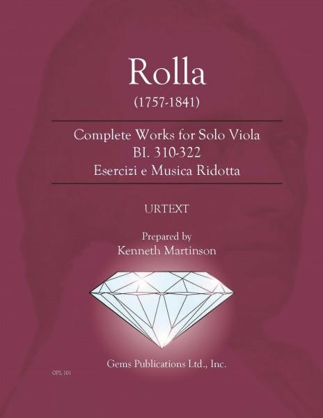 Complete Works for Solo Viola BI. 310-322 Esercizi e Musica Ridotta