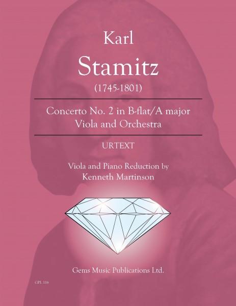 Concerto No. 2 in B-flat/A major Viola and Orchestra (viola/piano reduction)