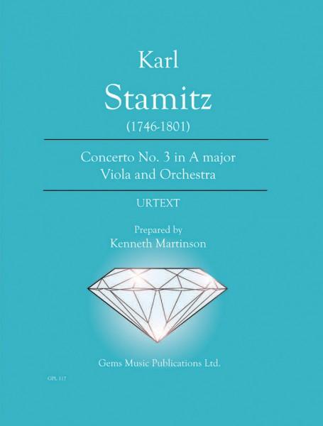 Concerto No. 3 in A major Viola and Orchestra (viola/piano reduction)