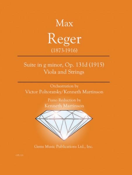 Suite in g minor, Op. 131d (1915) Viola and Strings (viola/piano reduction)