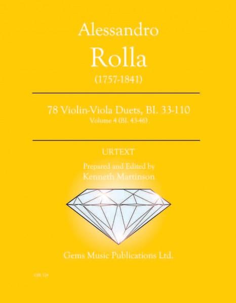 78 Violin-Viola Duets, BI. 33-110 Volume 4 (BI. 43-46)