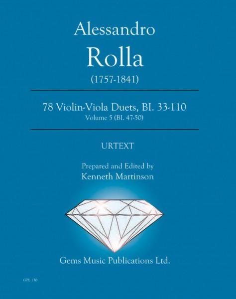 78 Violin-Viola Duets, BI. 33-110 Volume 5 (BI. 47-50)