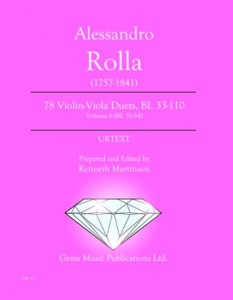 78 Violin-Viola Duets, BI. 33-110 Volume 6 (BI. 51-54)