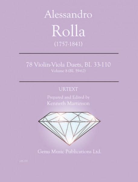 78 Violin-Viola Duets, BI. 33-110 Volume 8 (BI. 59-62)