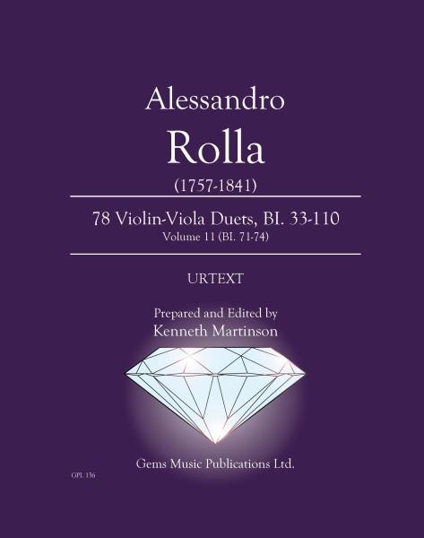 78 Violin-Viola Duets, BI. 33-110 Volume 11 (BI. 71-74)