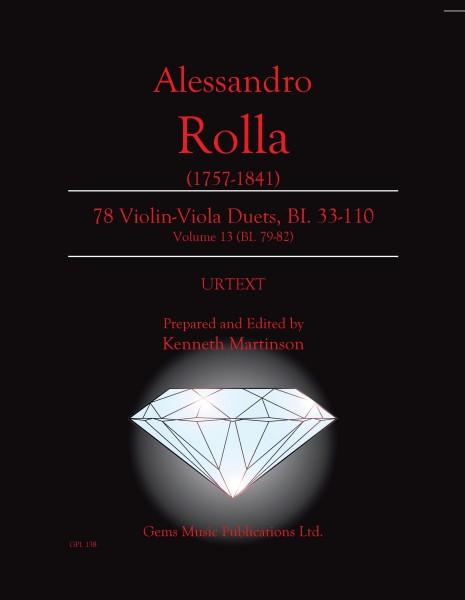 78 Violin-Viola Duets, BI. 33-110 Volume 13 (BI. 79-82)