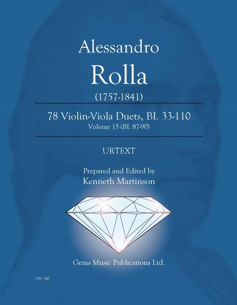 78 Violin-Viola Duets, BI. 33-110 Volume 15 (BI. 87-90)
