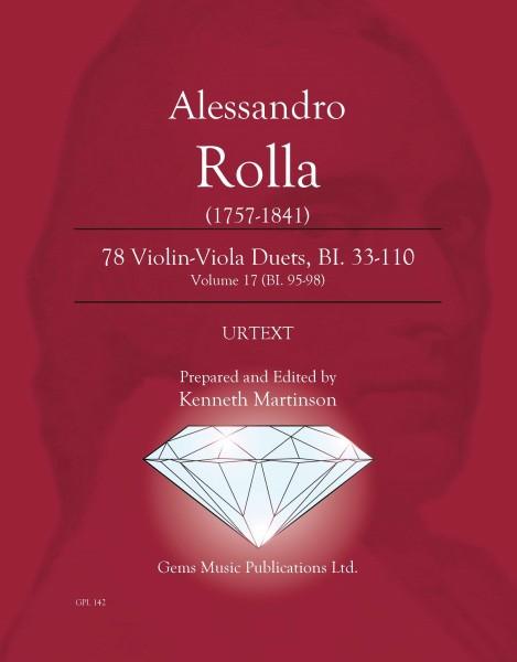 78 Violin-Viola Duets, BI. 33-110 Volume 17 (BI. 95-98)