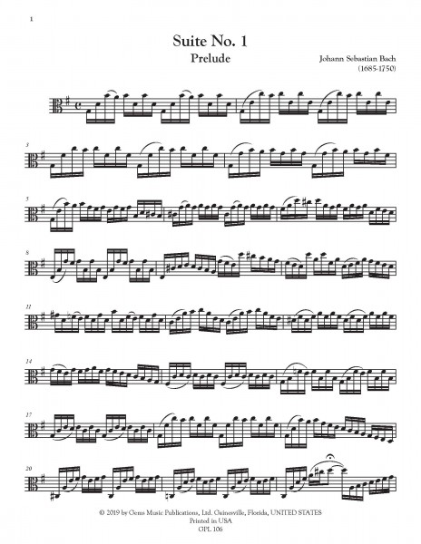 Six Suites, BWV 1007-1012 Viola Edition