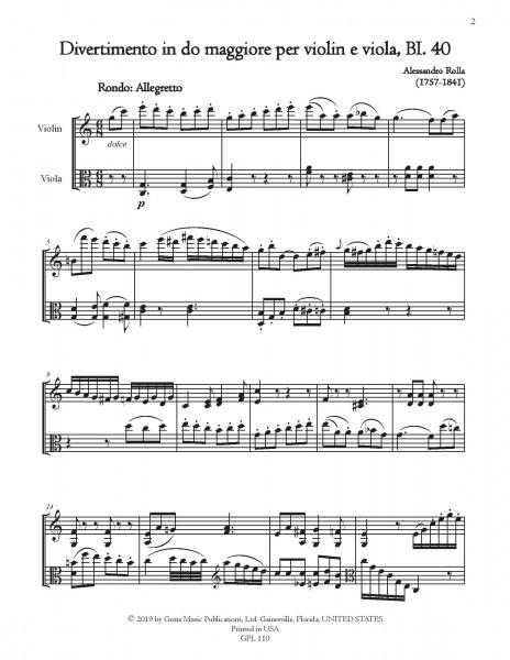 78 Violin-Viola Duets, BI. 33-110 Volume 3 (BI. 40-42)