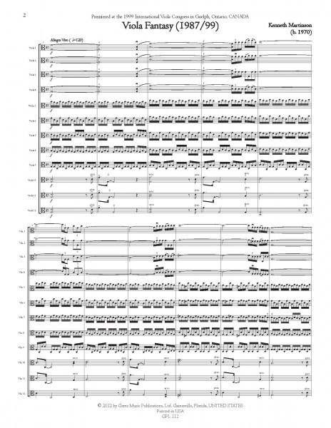 Viola Fantasy (1987/99) for 12 Violas