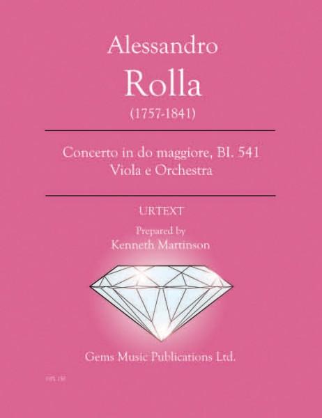 Concerto in do maggiore, BI. 541 Viola e Orchestra (score/parts)