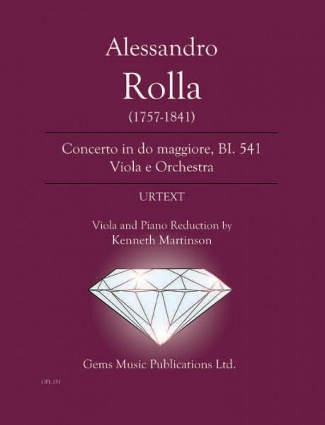 Concerto in do maggiore, BI. 541 Viola e Orchestra (viola/piano reduction)