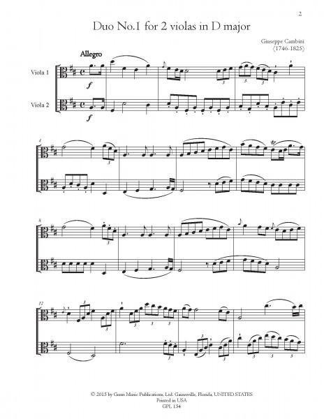 Six Duos Concertants, 1. Livre for 2 violas (#1-6)