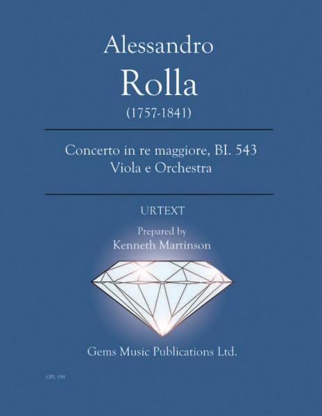 Concerto in re maggiore, BI. 543 Viola e Orchestra (score/parts)