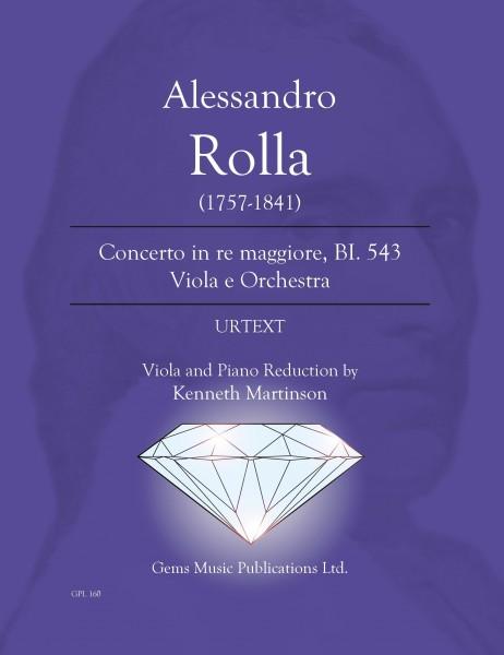 Concerto in re maggiore, BI. 543 Viola e Orchestra (viola/piano reduction)