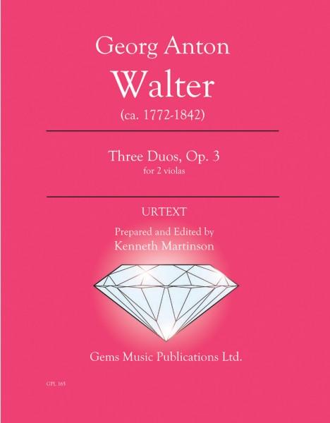 Three Duos, Op. 3 for 2 violas