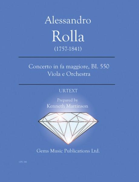 Concerto in fa maggiore, BI. 550 Viola e Orchestra (score/parts)