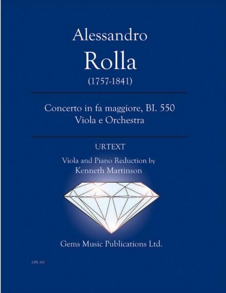 Concerto in fa maggiore, BI. 550 Viola e Orchestra (viola/piano reduction)