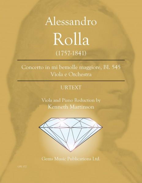 Concerto in mi bemolle maggiore, BI. 545 Viola e Orchestra (viola/piano reduction)