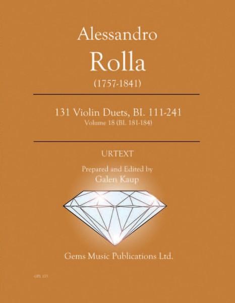 131 Violin Duets, BI. 111-241 Volume 18 (BI. 181-184)