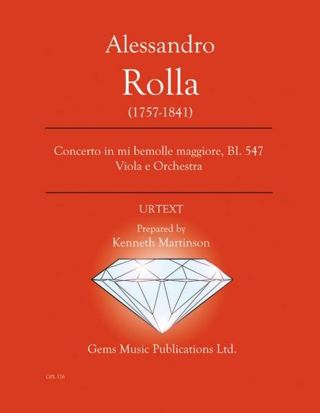 Concerto in mi bemolle maggiore, BI. 547 Viola e Orchestra (viola/piano reduction)