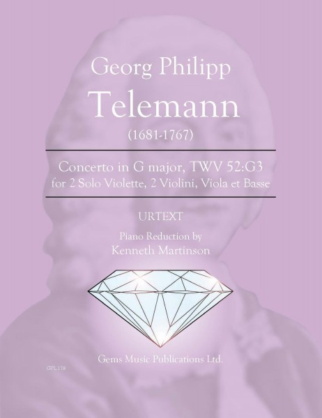 Concerto in G major, TWV 52:G3 for 2 Solo Violette, 2 Violini, Viola et Basse (2 viola/piano reduction)