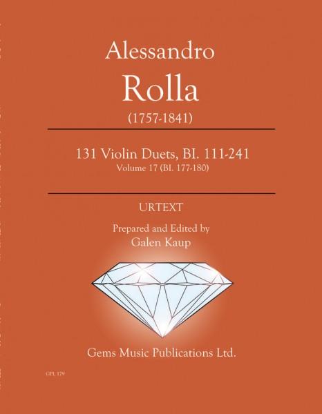 131 Violin Duets, BI. 111-241 Volume 17 (BI. 177-180)