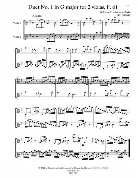 3 Duetten (ca. 1775), F. 60-62 for 2 violas