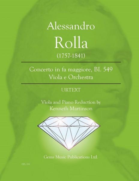 Concerto in fa maggiore, BI. 549 Viola e Orchestra (viola/piano reduction)
