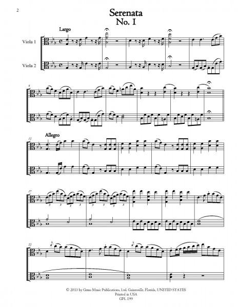 Serenata for 2 violas (Fourteen 18th Century Italian Duets)