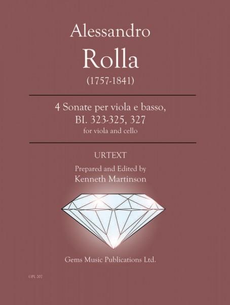 4 Sonatas for Viola e Basso (Cello accompaniment), BI. 323-325, 327