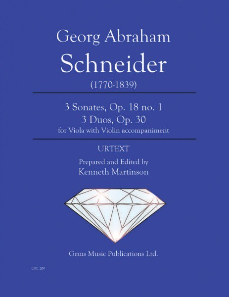 3 Sonates, Op. 18 no. 1 and 3 Duos, Op. 30 for Viola with Violin accompaniment