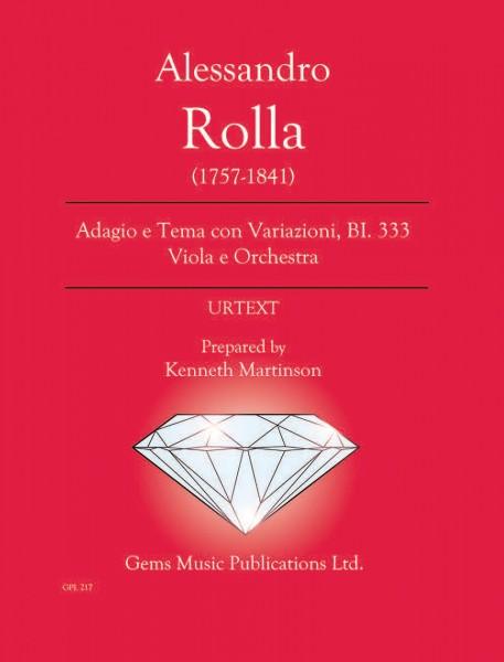 Adagio e Tema con Variazioni, BI. 333 Viola e Orchestra (score/parts)