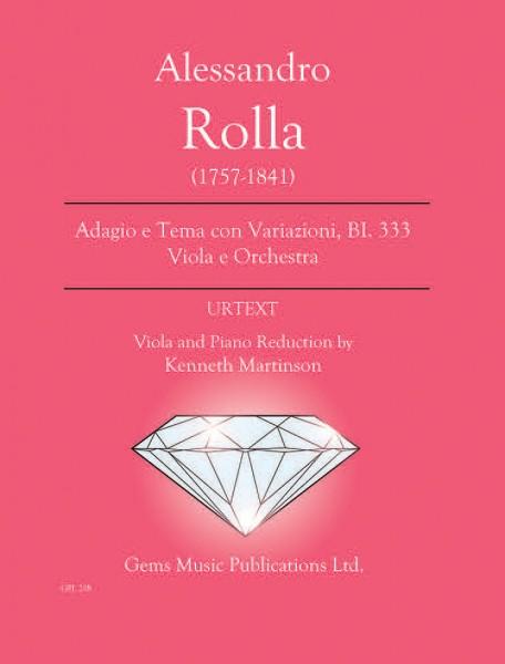 Adagio e Tema con Variazioni, BI. 333 Viola e Orchestra (viola/piano reduction)