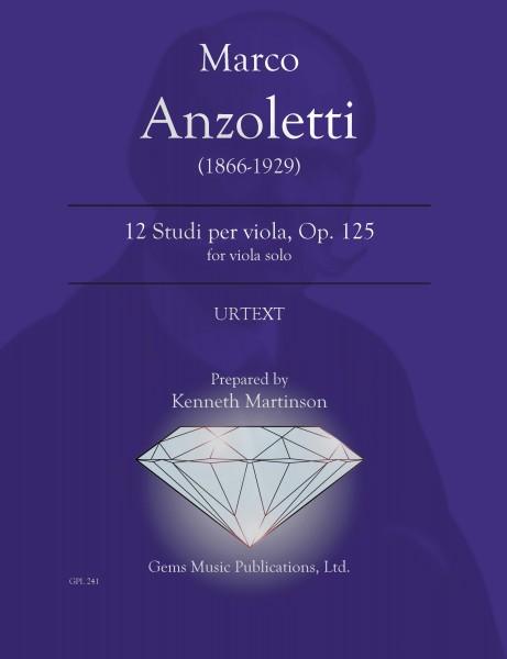 12 Studi, Op. 125 for viola solo