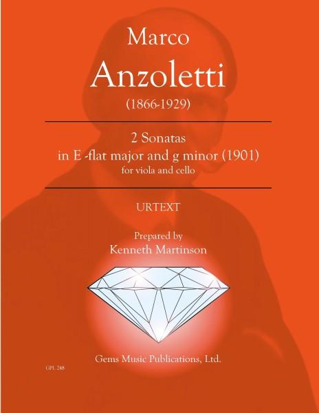 2 Sonatas in E-flat major and g minor for viola and cello (1901)