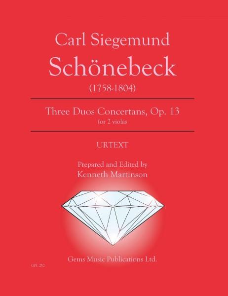 3 Duos Concertans for 2 violas, Op. 13