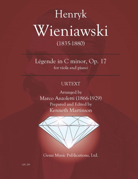 Legende, Op. 17 in c minor for viola and piano