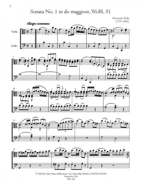 "6 Sonates \""Parigine\"" per viola e basso, WoBI. 51-55 & BI. 324 (for viola and cello)"