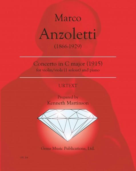 Concerto in C major for violin/viola (1 soloist) and orchestra (1915) (violin-viola/piano reduction)