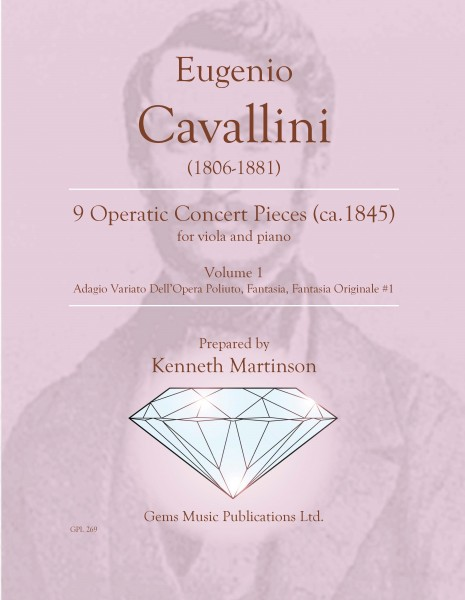 9 Operatic Concert Pieces, Vol. 1 (Adagio Variato Dell\'Opera Poliuto, Fantasia, Fantasia Originale #1 ) for viola and piano