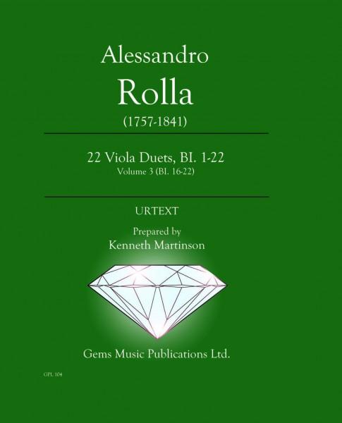 22 Viola Duets, BI. 1-22 Volume 3 (BI. 16-22)