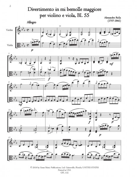 78 Violin-Viola Duets, BI. 33-110 Volume 7 (BI. 55-58)