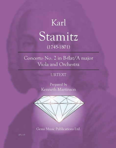 Concerto No. 2 in B-flat/A major Viola and Orchestra (score/parts)