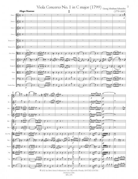 Viola Concerto No. 1 in C major (1799) [score and parts]