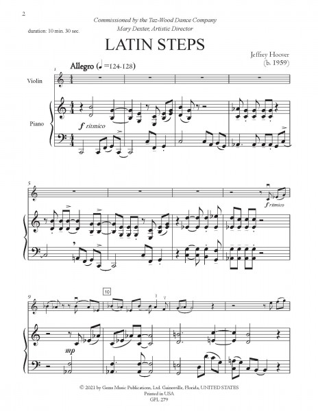 Latin Steps for violin and piano